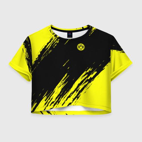 Женская футболка Crop-top 3D FC Borussia 2018 Original