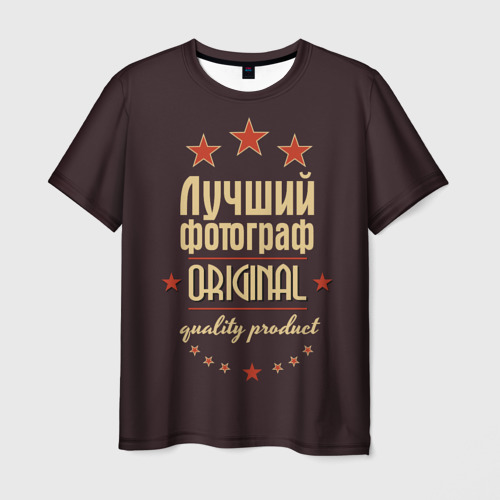 Мужская футболка 3D Лучший фотограф