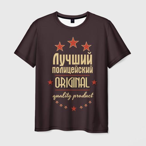 Мужская футболка 3D Лучший полицейский