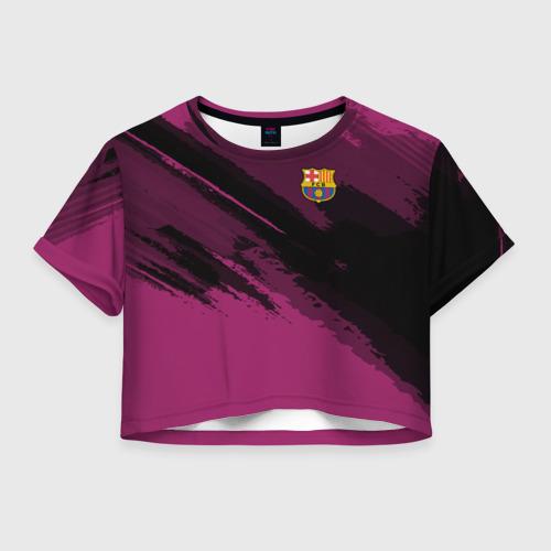 Женская футболка Crop-top 3D Barcelona sport