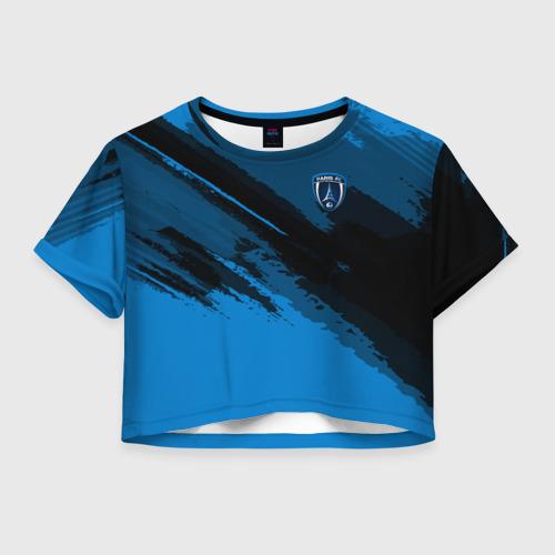 Женская футболка Crop-top 3D FC Paris Sport