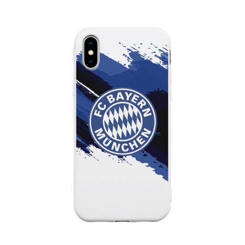 Чехол для iPhone X матовый BAYERN MUNCHEN SPORT STYLE