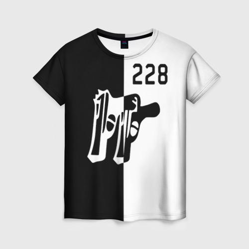 Женская футболка 3D 228