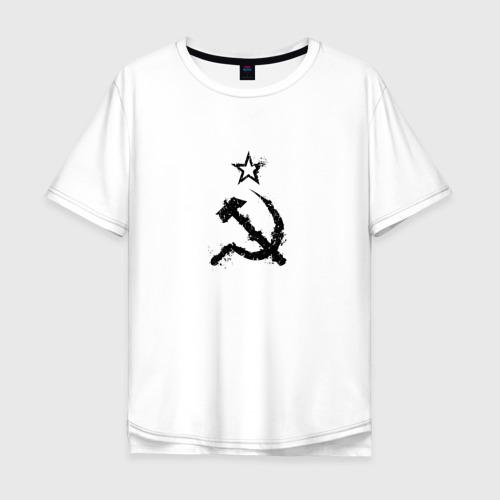 Мужская футболка хлопок Oversize СССР