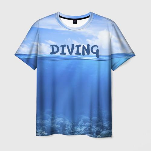 Мужская футболка 3D Дайвинг