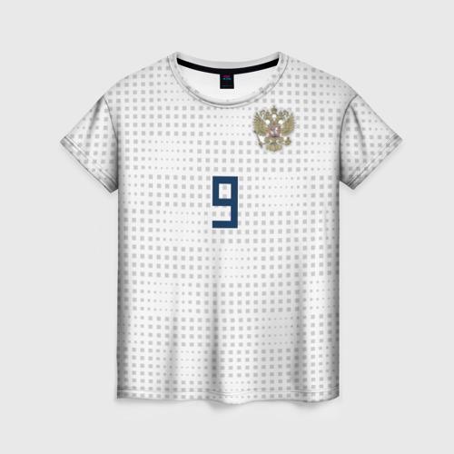 Женская футболка 3D Kokorin away WC 2018