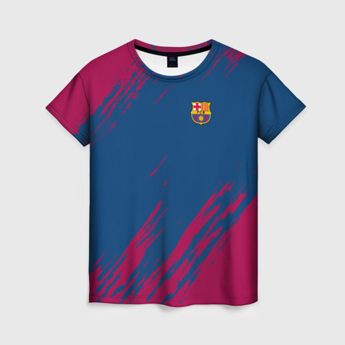Женская футболка 3D FC BARCELONA (BARCA) | ФК БАРСЕЛОНА