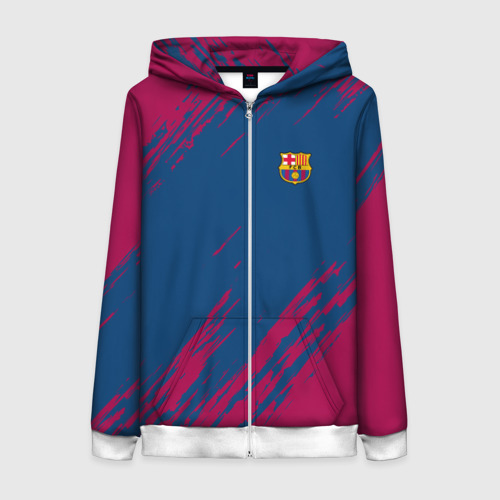 Женская толстовка 3D на молнии FC Barca 2018 Original