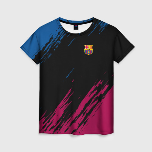 Женская футболка 3D FC BARCELONA (BARCA)   ФК БАРСЕЛОНА