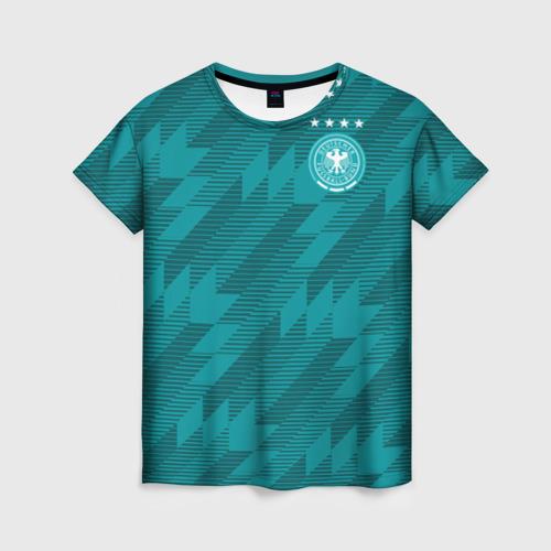 Женская футболка 3D Germany away WC 2018