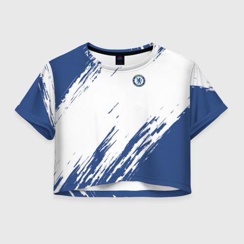Женская футболка Crop-top 3D Chelsea Uniform