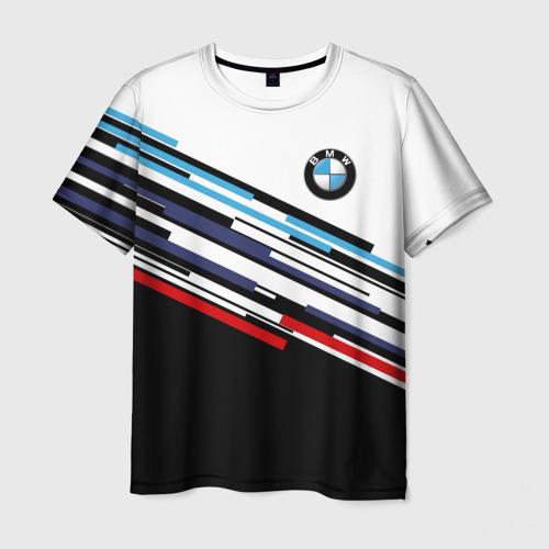 Мужская футболка 3D BMW BRAND COLOR | БМВ