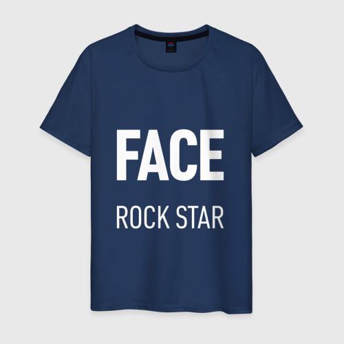 Мужская футболка хлопок Face rock star