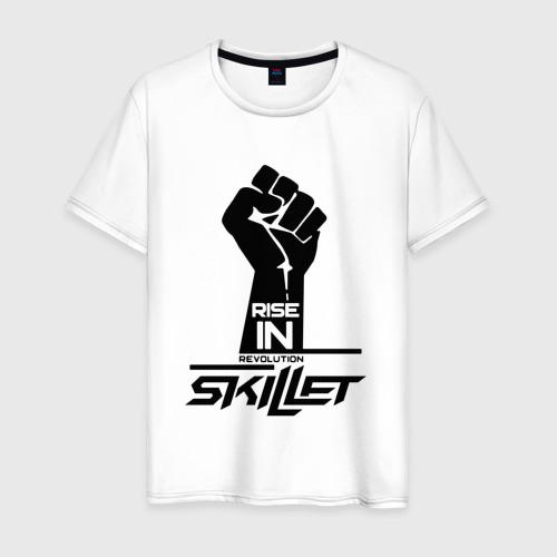 Мужская футболка хлопок Rise in revolution Skillet