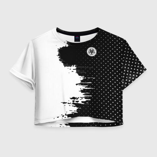 Женская футболка Crop-top 3D Leicester city uniform 2018
