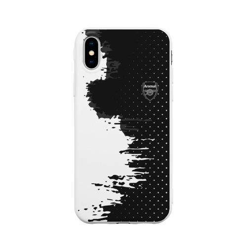 Чехол для iPhone X матовый Arsenal uniform black 2018