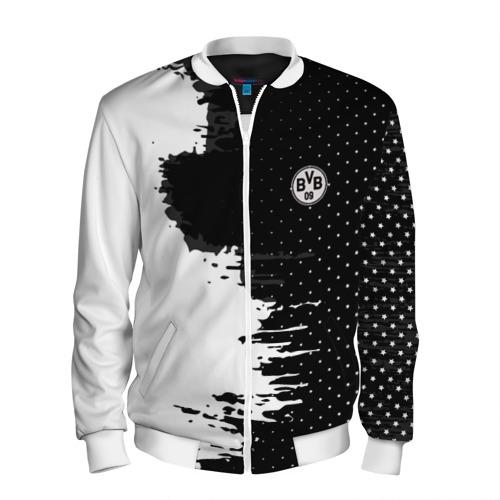 Мужской бомбер 3D Borussia uniform black 2018