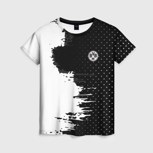 Женская футболка 3D Borussia uniform black 2018