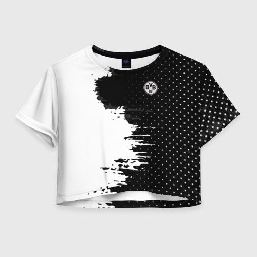 Женская футболка Crop-top 3D Borussia uniform black 2018