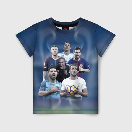 Детская футболка 3D Звезды футбола