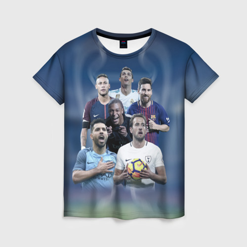 Женская футболка 3D Звезды футбола