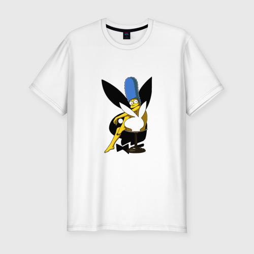 Мужская футболка хлопок Slim Marge Playboy