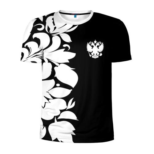 Мужская футболка 3D спортивная Russia Black&White Style