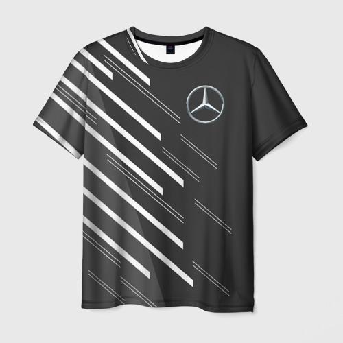 Мужская футболка 3D MERCEDES BENZ SPORT