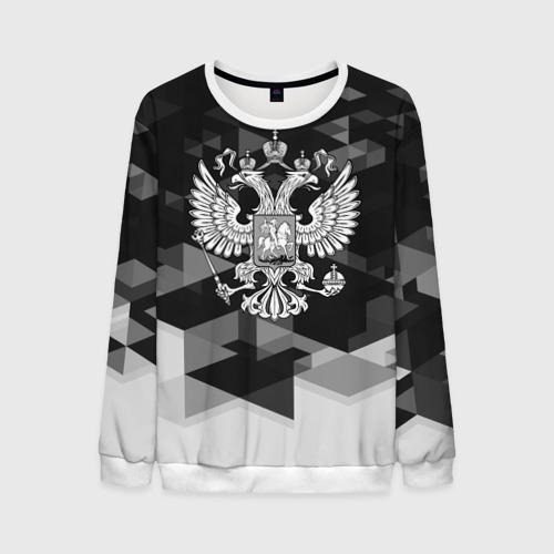 Мужской свитшот 3D Russia Black&White Abstract