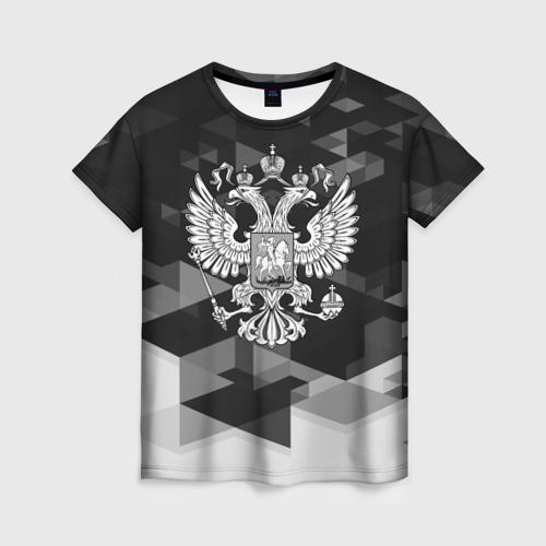 Женская футболка 3D Russia Black&White Abstract