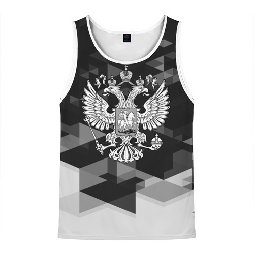 Мужская майка 3D Russia Black&White Abstract