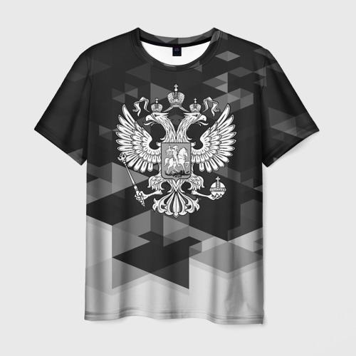 Мужская футболка 3D Russia Black&White Abstract