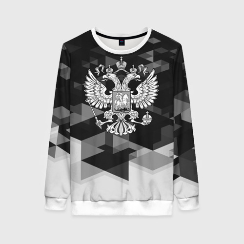 Женский свитшот 3D Russia Black&White Abstract