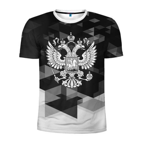 Мужская футболка 3D спортивная Russia Black&White Abstract