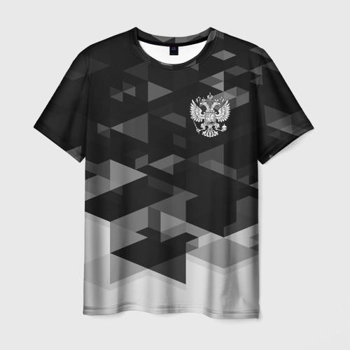 Мужская футболка 3D Герб РФ