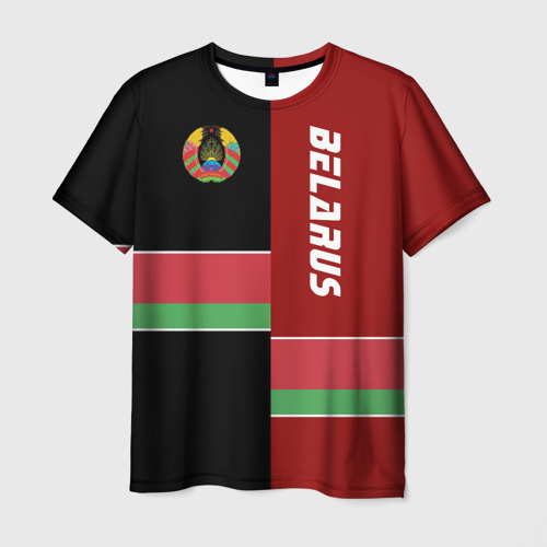 Мужская футболка 3D Belarus (Беларусь)