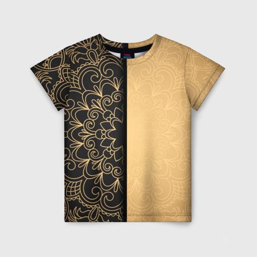 Детская футболка 3D Черное золото
