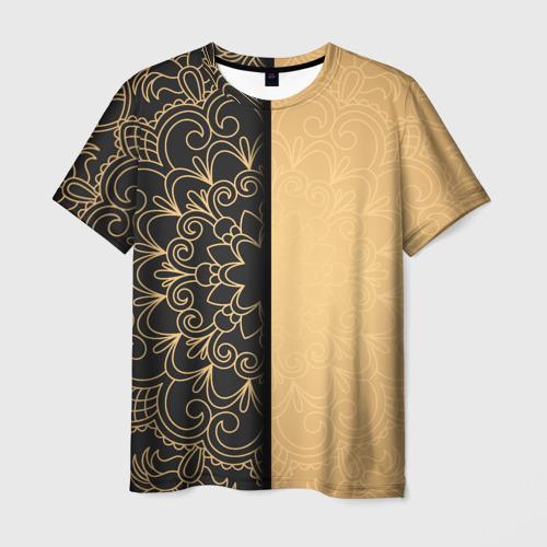 Мужская футболка 3D Черное золото