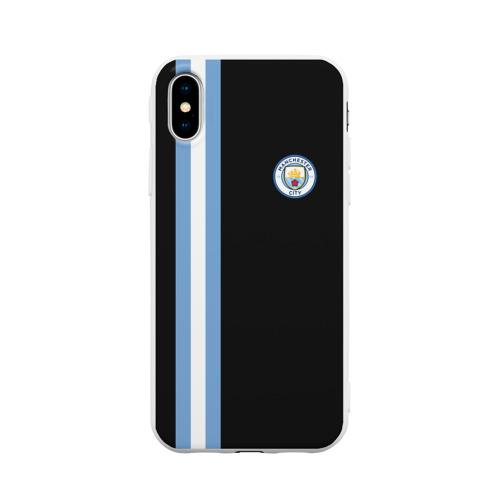 Чехол для iPhone X матовый Манчестер Сити