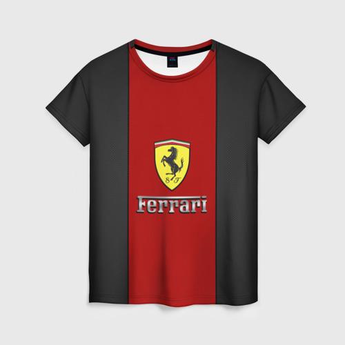 Женская футболка 3D Ferrari