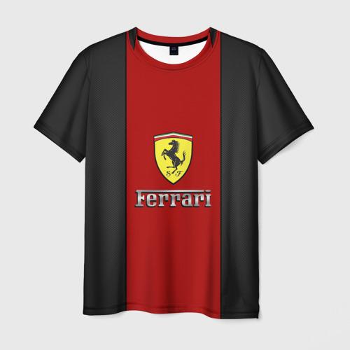 Мужская футболка 3D Ferrari