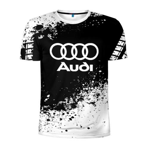Мужская футболка 3D спортивная Audi abstract sport
