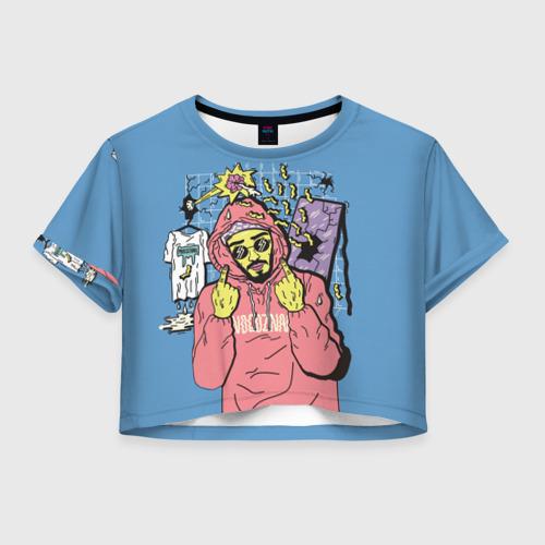 Женская футболка Crop-top 3D  Mnogoznaal 4