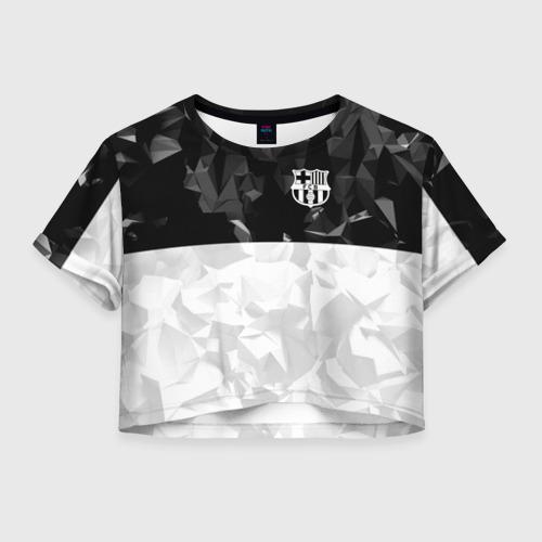 Женская футболка Crop-top 3D FC BARCELONA (BARCA)   ФК БАРСЕЛОНА