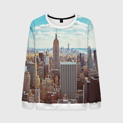 Мужской свитшот 3D Столица мира (Нью-Йорк)