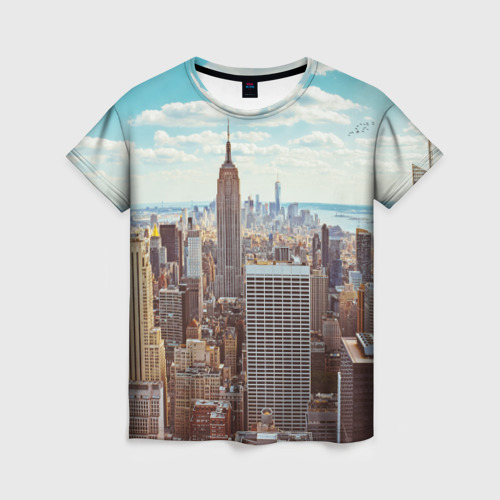 Женская футболка 3D Столица мира (Нью-Йорк)