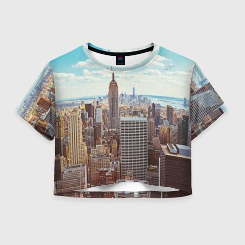 Женская футболка Crop-top 3D Столица мира (Нью-Йорк)