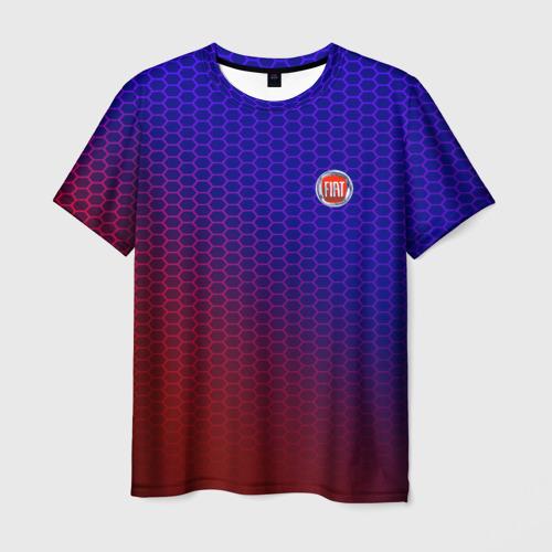 Мужская футболка 3D FIAT carbon uniform 2018