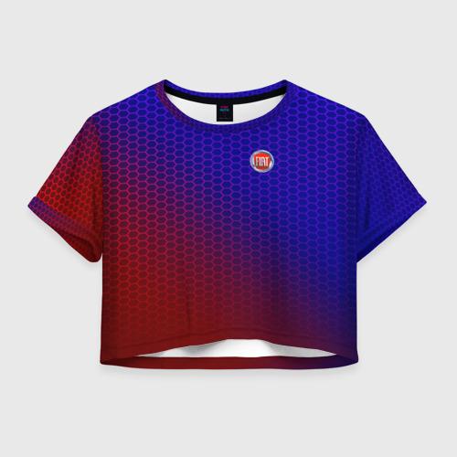 Женская футболка Crop-top 3D FIAT carbon uniform 2018