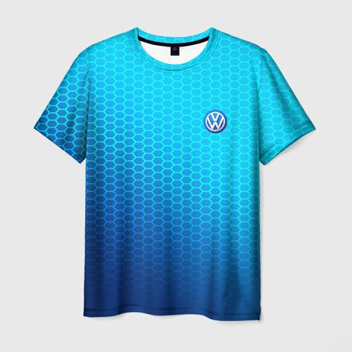 Мужская футболка 3D VOLKSWAGEN carbon uniform 2018